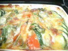 summer vegetable gratin 太陽の恵みいっぱい!『夏グラタン』(zucchini, tomato, bell pepper, eggplant, mushroom, mozzarella)