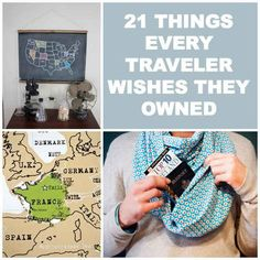 21 Things Every Traveler Wishes They Owned. Skip the first half. But the end is some very valuable ideas