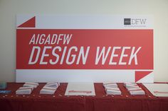 AIGA DFW Design Week 2012 Poster, Program, Signage, Website and Event Planning - Design, Art & Creative Direction, Copywriting, Event Planning and Coordination - Frances Yllana francesyllana.com