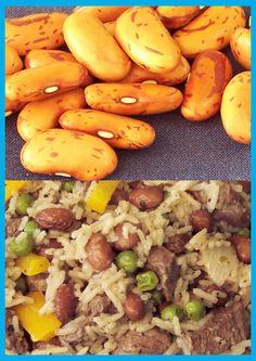 Borlotti bean rice Rice Dishes, Beans, Fruit, Vegetables, Nice, Food, Essen, Vegetable Recipes, Meals