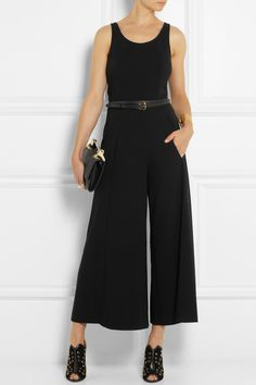 Moschino Cheap and Chic|Crepe wide-leg jumpsuit|NET-A-PORTER.COM