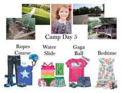 """""""8/17 -High Ropes Course, Water Slide, & Gaga Ball"""" by my-creative-mess ❤ liked on Polyvore featuring Gymboree, Patagonia, Chaco, Contigo, Jellycat, Disney, Coleman and Marimekko"""