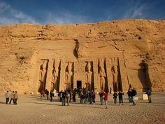 Temple of Nefertari at Abu Simbel in Nubia, Egypt