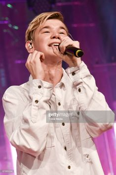 Singer Marcus Gunnarsen (Marcus and Martinus) performs during the GLOW - The Beauty Convention at Station on November 4, 2017 in Berlin, Germany.