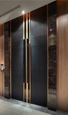Apartment Entrance, Office Entrance, House Entrance, Entrance Doors, Entrance Signage, Door Entry, Entrance Ideas, Door Wall, Design Entrée