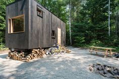 Ovida House | A tiny house in the woods about 2 hours north of Boston, Massachusetts. Designed by The Millennial Housing Lab.