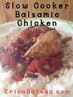 Slow Cooker Balsamic Chicken #Recipe #MomsAtHomeMeals