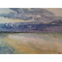 Dean's painting of the beach at West Beach Kiawah