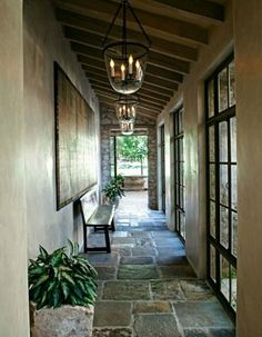 stone flooring for the front porch....