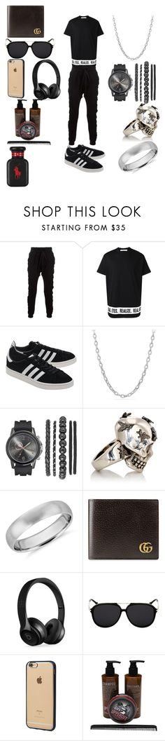 """""""momoh"""" by azrou ❤ liked on Polyvore featuring Blood Brother, Givenchy, adidas Originals, David Yurman, Alexander McQueen, Blue Nile, Gucci, Beats by Dr. Dre, Incase and Uppercut"""