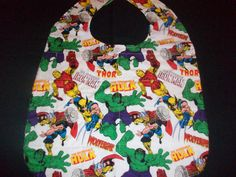 Adult bib, special needs bib, teen bib, clothing protector,care givers, quilted batting by NinsThisandThat on Etsy