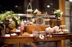 Rustic, Shabby & Chic Dessert table Idea www.MadamPaloozaEmporium.com www.facebook.com/MadamPalooza