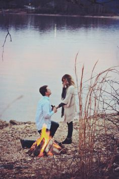 Seriously. That would be the PERFECT way to propose to me. Build a bonfire, roast marshmallows, and then pop  the question.