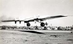 Northrop YB-49 42-102367 takes off from Northrop Field, Hawthorne, California. (U.S. Air Force)