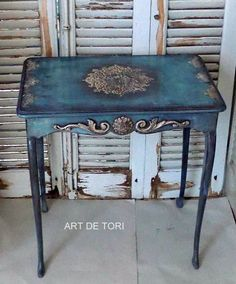 Hand Painted Furniture: Bohemian, Shabby Chic, Table Tops etc. Furniture Diy, Furniture Rehab, Recycled Furniture, Hand Painted Furniture, Painted Furniture, Furniture Restoration, Furniture Inspiration, Redo Furniture, Refinishing Furniture