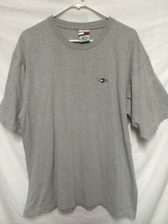 TOMMY HILFIGER JEANS BRAND MENS LARGE T-SHIRT WINGED LOGO WINGS 2 SIDED DESIGN
