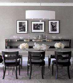 monique lhuillier elle decor | Dove Gray Home Decor ♅ Monique Lhullier's grey dining room in ...