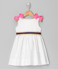 Take a look at this White & Green A-Line Dress - Infant, Toddler & Girls by Emily Lacey on #zulily today!