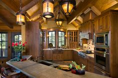 arts and crafts design | ... timeless Arts and Crafts style, consider incorporating mica lighting This kitchen is RIDICULOUS! Gorgeous!