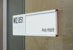 Wayfinding Signage, Signage Design, Office Signs, Office Decor, Hospital Signage, Ada Signs, Cafe Shop Design, National Grid, Base Building