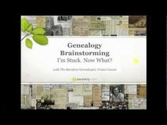Genealogy Brainstorming: I'm Stuck. Now What?  Join Crista Cowan as she explains the best ways to share your family history research challenges in order to generate ideas for what to do next. You will be breaking through those #genealogy brick walls in no time.