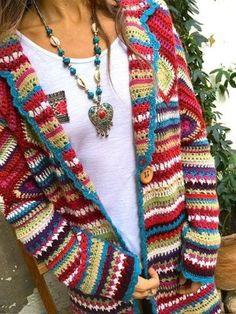Long Sleeve Casual Hoodie Winter Teddy Bear Printed Warm Plus Size Coat – knitting sweaters vintage Cardigan Au Crochet, Gilet Crochet, Cardigan En Maille, Crochet Granny, Mode Crochet, Casual Sweaters, Casual Tops, Boho Sweaters, Sweater Coats