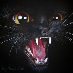 Black Cat. Fantasy and Realism in Paintings and Drawings of Animals. To see more art and information about Kate Mur click the image.