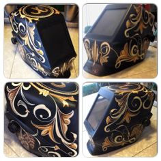Welding Helmet by Lil dame Pinstripping