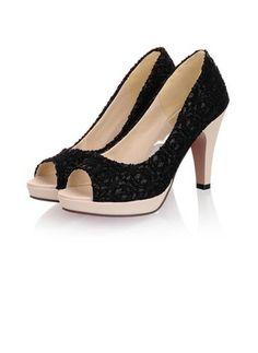 De mujer Salón Plataforma Encaje Tacones Tacón stilettos Tejido Zapatos