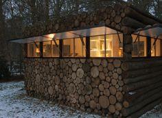 PHOTOS. La cabane en troncs: le nouveau pavillon de jardin à la mode ...