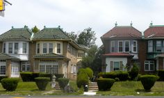Cobbs Creek Automobile Suburb Historic District in West Philadelphia, Pennsylvania.