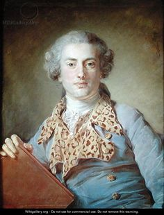 Portrait of Jean Georges Noverre - Jean-Baptiste Perronneau