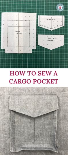 Learn how to sew a cargo pocket and hack your sewing patterns Skirt Patterns Sewing, Sewing Patterns Free, Skirt Sewing, Coat Patterns, Blouse Patterns, Clothing Patterns, Sewing Hacks, Sewing Tutorials, Dress Tutorials