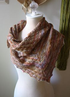 Cheques, checkered rib shawlette knitting pattern by phydeauxdesigns on etsy $6.00