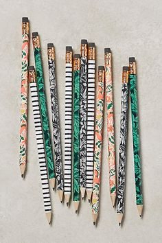 Botanical Writing Pencils $14