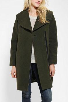 Hooded, warm woolen coat from Spiewak & Sons. #urbanoutfitters