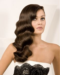 Old Hollywood----hair waves Retro Hairstyles, Party Hairstyles, Bride Hairstyles, 1920s Long Hairstyles, Classic Hairstyles, Wave Hairstyles, Spring Hairstyles, Celebrity Hairstyles, Hairstyles Haircuts