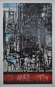 """""""A Poesia Está na Rua - 25 de Abril"""" by Vieira da Silva (Lisboa, 13 de junho de 1908 — Paris, 6 de março de 1992) - Portuguese painter"""
