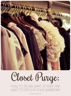 """Time for some spring cleaning! When you're pulling out the """"Summer Clothes"""" box this season, take a look at these great tips on how to decide what stays and what goes.  #closet #style"""