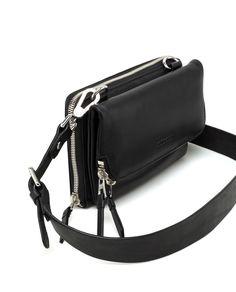 642324ce11319 Canadian Design & Authentic Leather Craftsmanship. Women's Satchels &  Crossbody bags PRESCIENT Black ...