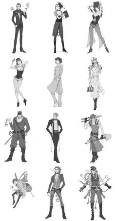 Uber Rpg Steampunk characters