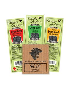 Simply Snackin Healthy Gourmet Meat Snack Beef Cranberries/Blueberries 1oz 24/box #jerky #allnatural #simplysnackin #snacking #protein #glutenfree #WhatAreYouFreeFrom? Purchase: https://savorfull.com/product/simply-snackin-healthy-gourmet-meat-snack-beef-cranberriesblueberries-1oz-24box/
