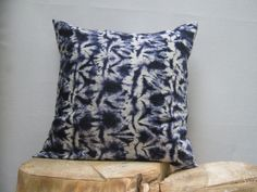 Hand Tie dyed Shibori Pillow Cover Shibori Tie by AddisonMade, $60.00