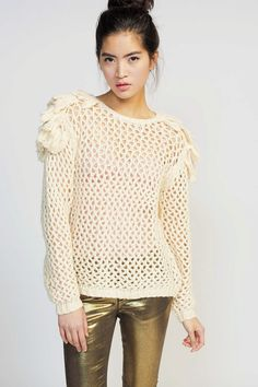 Koshka - Something Else Shaggy Mesh Sweater, $205.00 (http://www.shopkoshka.com/new-in/something-else-shaggy-mesh-sweater/)