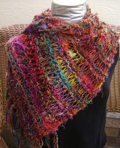 Sari Silk Shoulder Wrap/Shawl or Scarf in too many colors to count on Etsy, $48.98