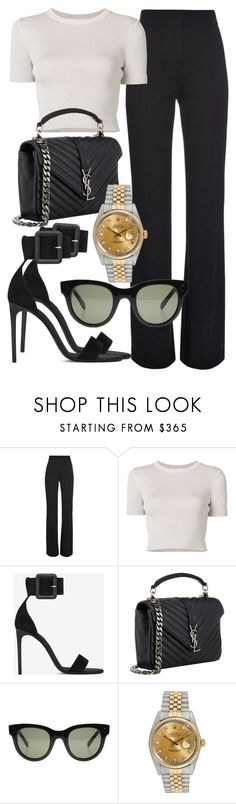 """Sem título #2358"" by mariandradde ❤ liked on Polyvore featuring Derek Lam, Cushnie Et Ochs, Yves Saint Laurent, CÉLINE and Rolex"