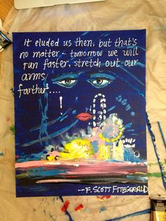 Great Gatsby Quote Painting by OriginialPaintings on Etsy, $40.00