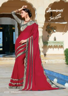 Explore the Laxmipati Maroon & Grey Saree and Silk Grey Blouse along with Silk Lace Patch Border for your special occasion. #Catalogue- #JAISHREE #DesignNumber: 4524 #Price - ₹ 3417.00 #Bridal #ReadyToWear #Wedding #Apparel #Art #Autumn #Black #Border #MakeInIndia #CasualSarees #Clothing #ColoursOfIndia #Couture #Designer #Designersarees #Dress #Dubaifashion #Ecommerce #EpicLove #Ethnic #Ethnicwear #Exclusivedesign #Fashion #Fashi Fancy Sarees, Party Wear Sarees, Grey Saree, Grey Blouse, Lehenga Saree, Dubai Fashion, Daily Wear, Special Occasion, Ready To Wear