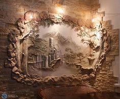 Роспись стен. Барельеф. | Барельеф