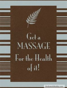 Massage = good health